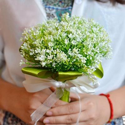 Verde La respiración del bebé Real Ramas de flores de boda_1