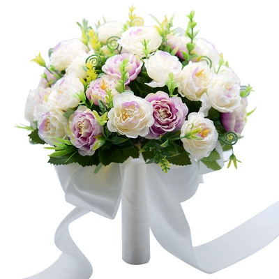 Artificial Rose Quinceanera Bouquet in Two Colors_9