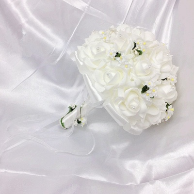White Rose Quinceanera Bouquet with Small Flowers_7