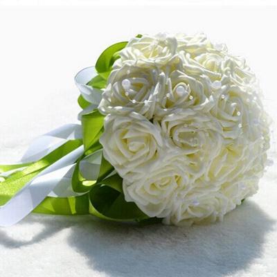 Maravilloso Seda Rose Múltiples colores ramo de la boda_1