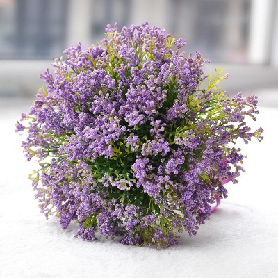 Luxury Real Touch Artificial Lavender Quinceanera Bouquet_1