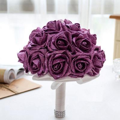 Sparkle Multiple Colors Rose Quinceanera Bouquet_5
