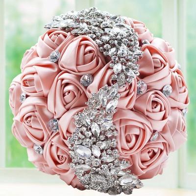 Sede Rosa rebordear ramo de la boda en múltiples colores_3