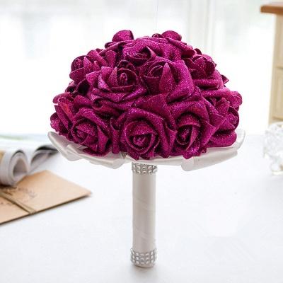 Sparkle Múltiples colores rosa ramo de la boda_2