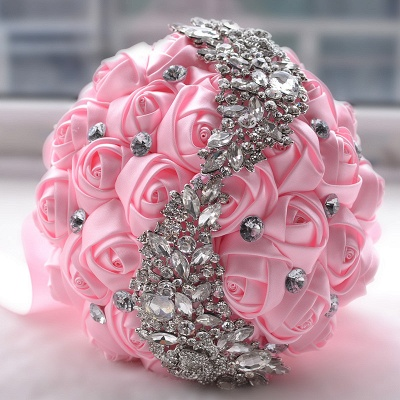 Sede Rosa rebordear ramo de la boda en múltiples colores_2