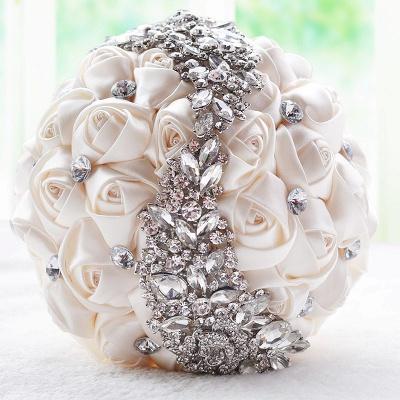 Sede Rosa rebordear ramo de la boda en múltiples colores_1