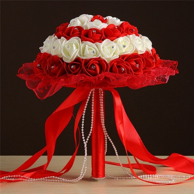 Grand Silky Rose Bouquet for Quinceanera in Multiple Colors_4