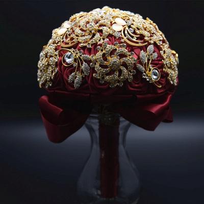 Cristal de lujo que rebordea el ramo de Rose para casarse_8