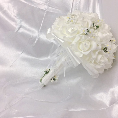 White Rose Quinceanera Bouquet with Small Flowers_3