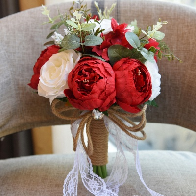 Real Touch Rainbow  Artifial Roses Quinceanera Bouquet_4