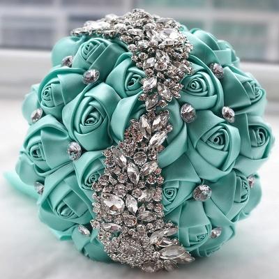 Sede Rosa rebordear ramo de la boda en múltiples colores_7