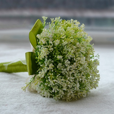 Green Soft Real Touch Quinceanera Bouquet_4