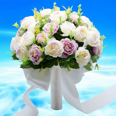 Artificial Rose Quinceanera Bouquet in Two Colors_3