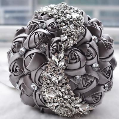 Slik Rose Beading Quinceanera Bouquet in Multiple Colors_6
