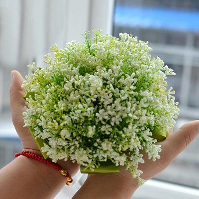 Verde La respiración del bebé Real Ramas de flores de boda_3