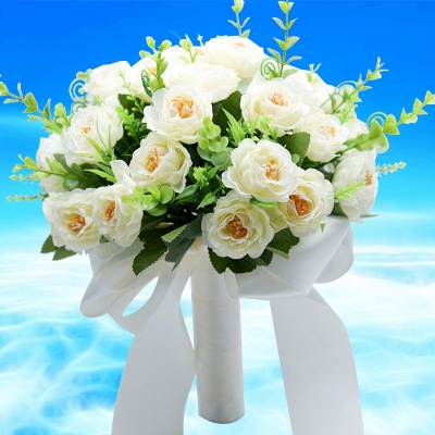 Artificial Rose Quinceanera Bouquet in Two Colors_1