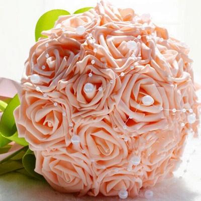 Maravilloso Seda Rose Múltiples colores ramo de la boda_2