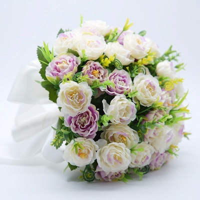 Artificial Rose Quinceanera Bouquet in Two Colors_7