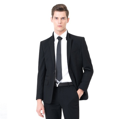 Moda pico solapa dos piezas | con pantalones trajes de boda_3
