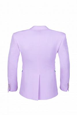 Hot Recommend Peak Lapel High Quality Two Button Lavender Casual Suit_5
