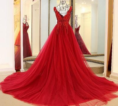 Elegantes vestido largo de quincea_era | correas cari_o abalorios en cuello redondo_4