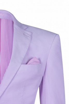 Custom Made Hot Recommend Lavender Peak Lapel Single Breasted Chambelanes Tuxedos_3