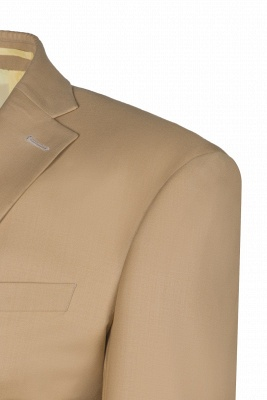 Latest Design Two Button Nude Color Peak Lapel Chambelanes Chambelanes Tuxedos_3