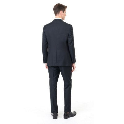 Custom Made Peak Lapel Two Pieces with Pants Casual Suits | Custom Made Chambelanes Tuxedos Online_3