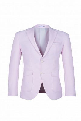 Candy Pink High Quality Single Breasted Peak Lapel Chambelanes Tuxedos_3