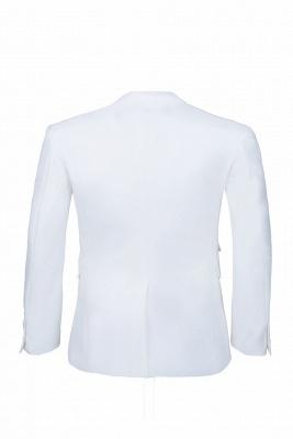 traje casual padrinos de boda pico solapa | De alta calidad de espalda blanca de ventilación de dos botones_5