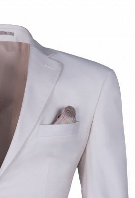 Customize Casual Suit Chambelanes  Ivory Peak Lapel Single Breasted High Quality_3