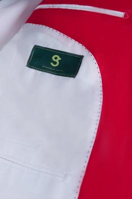 Popular Stylish Design Back Vent Peak Lapel Red Best Men Chambelanes_3