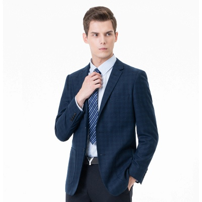 Lattice Two Button Peak Lapel Two Pieces with Pants Comfortable Chambelanes_2