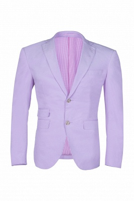 Custom Made Hot Recommend Lavender Peak Lapel Single Breasted Chambelanes Tuxedos_1