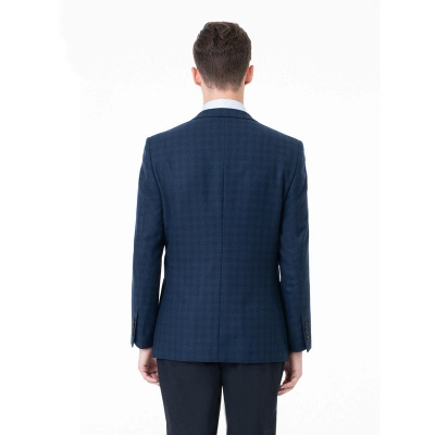 Lattice Two Button Peak Lapel Two Pieces with Pants Comfortable Chambelanes_4
