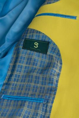 Boda traje trasero ventilación | De alta calidad moda dos botones narciso_6