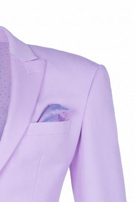 Hot Recommend Peak Lapel High Quality Two Button Lavender Casual Suit_3