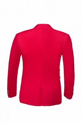 Popular Stylish Design Back Vent Peak Lapel Red Best Men Chambelanes_7