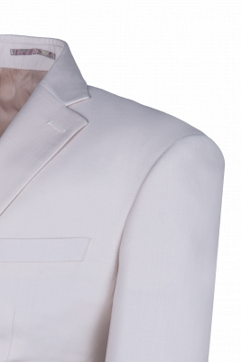 Customize Casual Suit Chambelanes  Ivory Peak Lapel Single Breasted High Quality_4