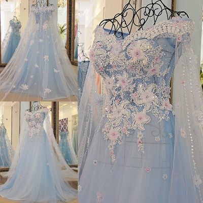 Off the Shoulder Appliques Sweetheart Quinceanera Dress_6