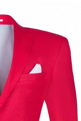 Popular Stylish Design Back Vent Peak Lapel Red Best Men Chambelanes_5