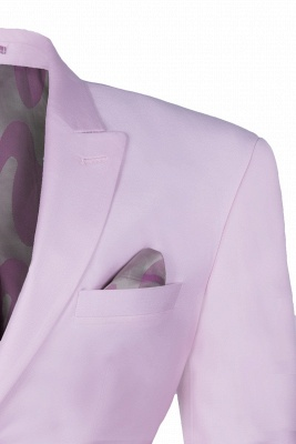 Latest Design Candy Pink Two Button Back Vent Peak Lapel Chambelanes_4