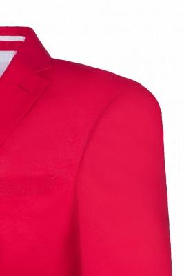 Popular Stylish Design Back Vent Peak Lapel Red Best Men Chambelanes_6