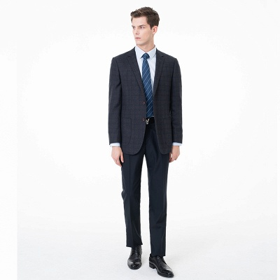 Slim Fit Peak Lapel Two-piece Suit Lattice Casual Suits | Chambelanes tuxedos for my quince_1