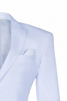 Trajes de fiesta de bodas Blanco Solapa pico | Dos Butones Solo pecho_3