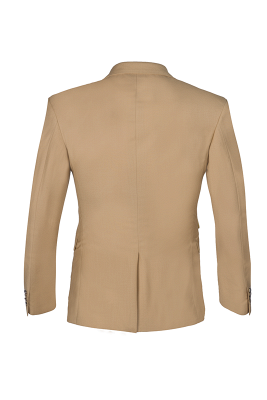 High Quality Two Button Nude Color Back Vent Peak Lapel Chambelanes_4