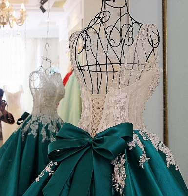 Exquisite Jewel Appliques Beading Quinceanera Dress_4