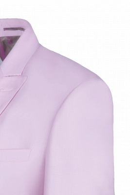 Latest Design Candy Pink Two Button Back Vent Peak Lapel Chambelanes_5