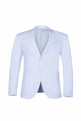 quinceanera Prom Suits White Peak Lapel Two Button Single Breasted_1