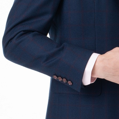 Two-piece Suit Peak Lapel Two Button Single Breasted Slim Fit | Chambelanes tuxedos for my quince_5